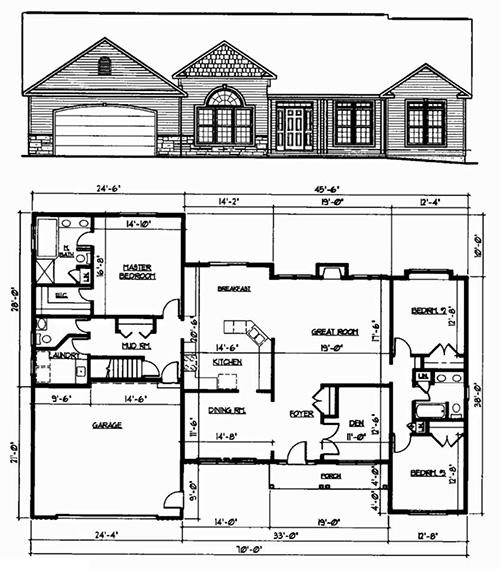Syracuse ny area home builder jmg custom homes for Barrington floor plan